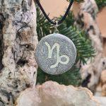 Capricorn zodiac necklace