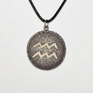 handmade-zodiac-jewelry-pendant-necklace-gift-unique jewelry-Horoscope -Aquarius-pendant